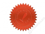 Etichete Stampila Timbru Sec Rosii